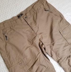 REI UPF 50+ Nylon Hiking Convertible Pants Sz 16P